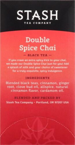 Stash Double Spice Chai Black Tea Bags Perspective: right