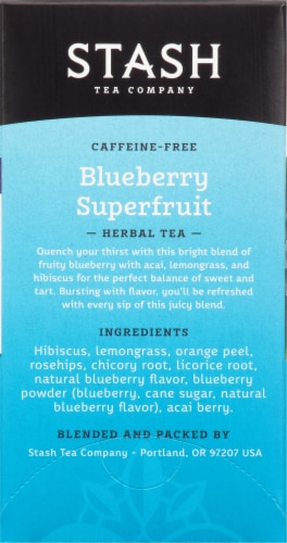 Stash Blueberry Superfruit Herbal Tea Bags Perspective: right