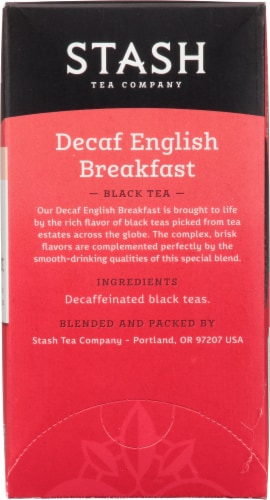 Stash Decaf English Breakfast Black Tea Bags Perspective: right