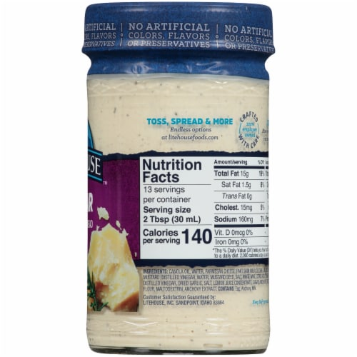 Litehouse™ Caesar Dressing & Spread Perspective: right