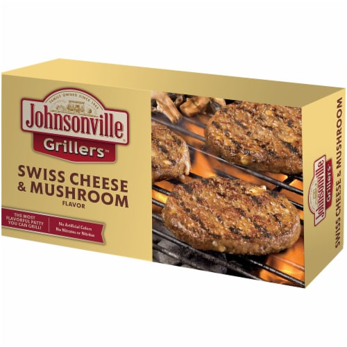 Johnsonville Grillers Swiss Cheese & Mushroom Flavored Patties Perspective: right