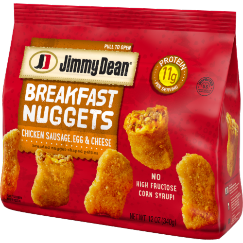 Jimmy Dean Chicken Sausage Egg & Cheese Breakfast Nuggets Perspective: right