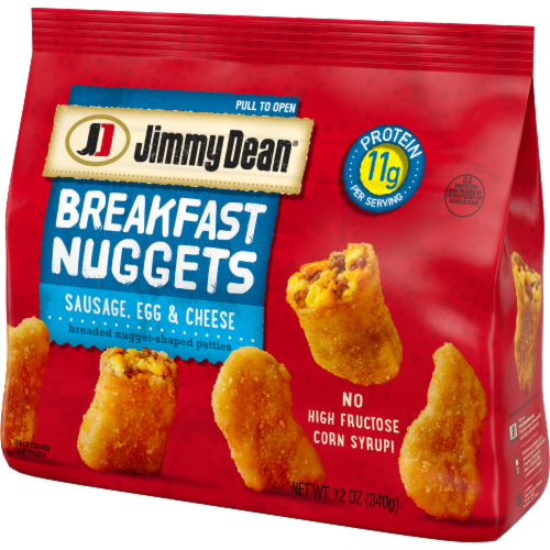 Jimmy Dean Sausage Egg & Cheese Breakfast Nuggets Perspective: right