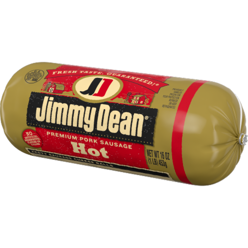 Jimmy Dean Premium Pork Hot Sausage Roll Perspective: right