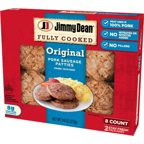 Jimmy Dean Fully Cooked Original Pork Sausage Patties Perspective: right