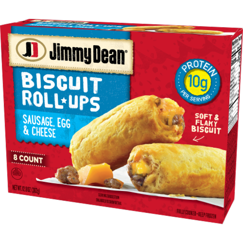 Jimmy Dean Sausage Egg & Cheese Biscuit Roll-Ups Perspective: right