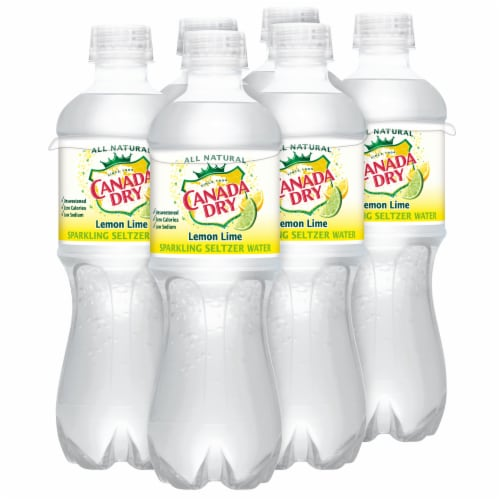 Canada Dry Sparkling Lemon Lime Seltzer Water Perspective: right