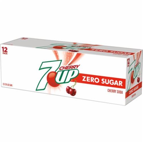 7UP Zero Sugar Cherry Soda Perspective: right