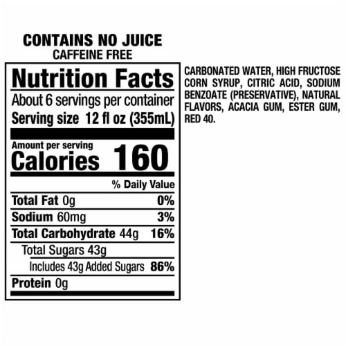 Sunkist Strawberry Lemonade Soda Perspective: right