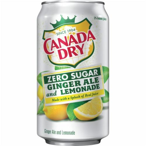 Canada Dry Zero Sugar Ginger Ale and Lemonade Soda Perspective: right