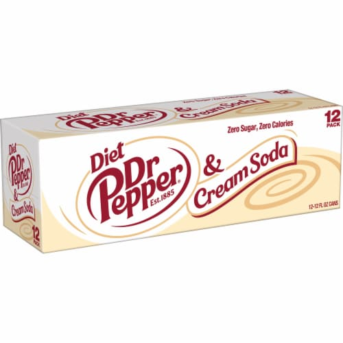 Dr Pepper & Cream Diet Soda Perspective: right