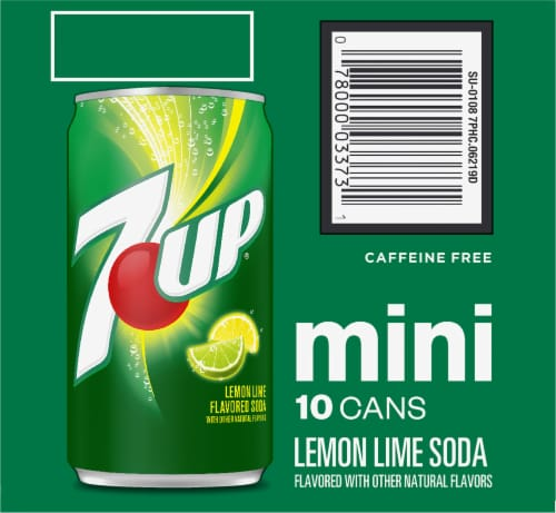 7UP Mini Lemon Lime Flavored Soda Perspective: right