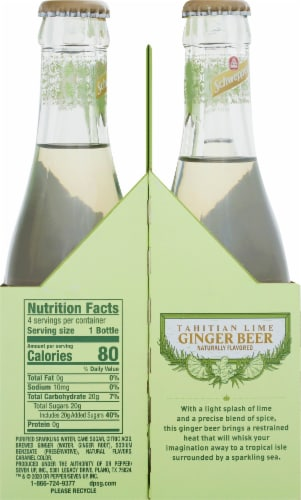 Schweppes Ginger Beer Tahitian Lime Perspective: right