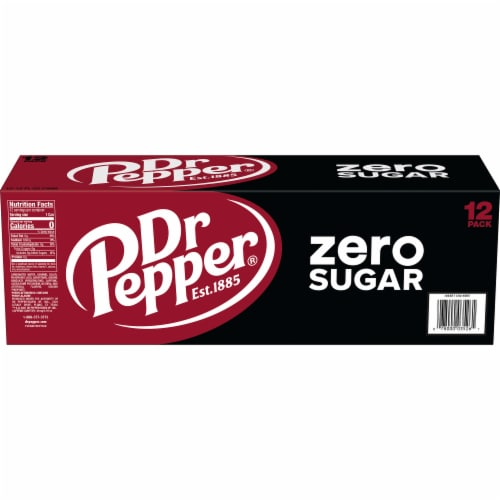Dr Pepper Zero Sugar Soda Perspective: right