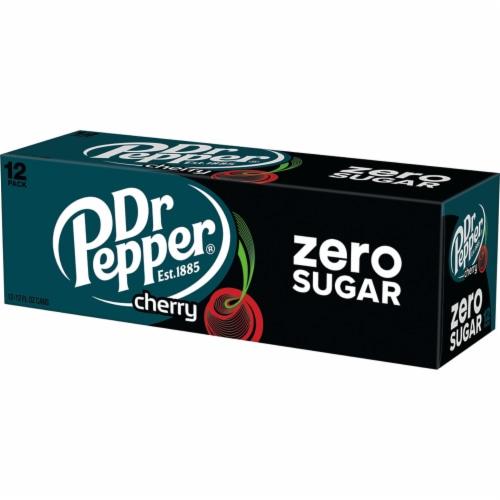 Dr Pepper Zero Sugar Cherry Soda Perspective: right