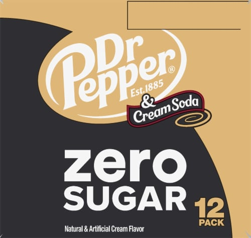 Dr Pepper Zero Sugar Cream Soda Perspective: right