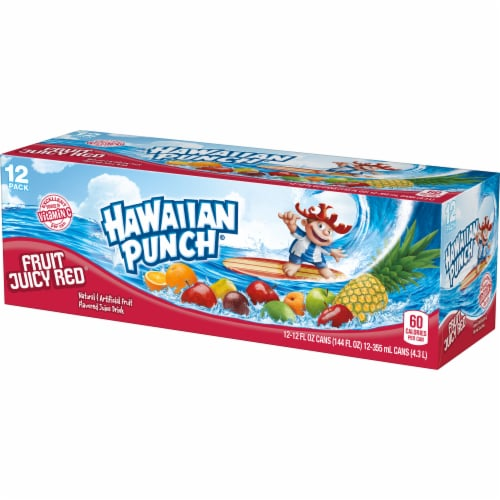 Hawaiian Punch Fruit Juicy Red Juice Drink Perspective: right