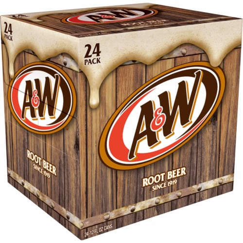A&W Root Beer Soda Perspective: right