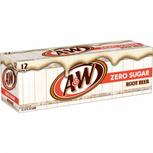 A&W Zero Sugar Root Beer Soda Perspective: right