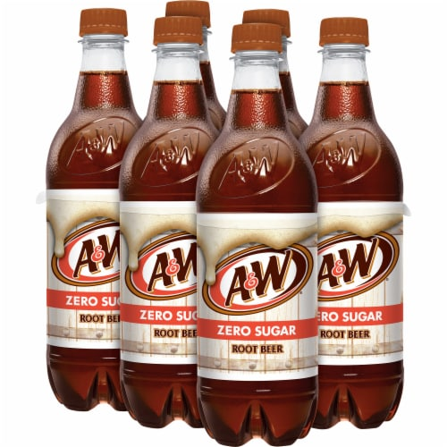A&W Root Beer Zero Sugar Soda Perspective: right
