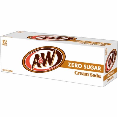 A&W Cream Zero Sugar Soda Perspective: right