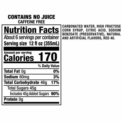 Sunkist Strawberry Soda Perspective: right