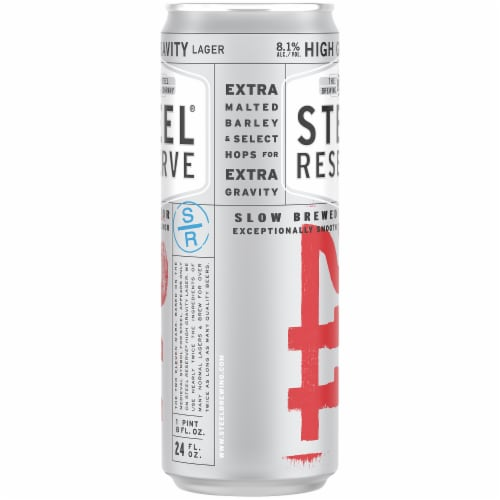 Steel Reserve High Gravity Lager Perspective: right