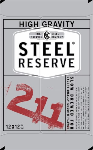 Steel Reserve High Gravity Lager Beer Perspective: right