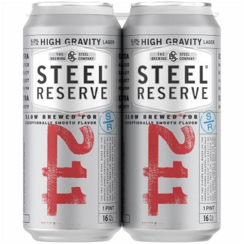 Steel Reserve High Gravity Malt Liquor Beer Perspective: right