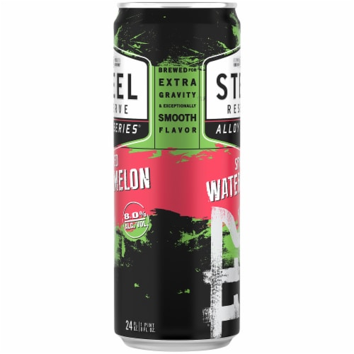 Steel Reserve Alloy Series Spiked Watermelon Flavored Malt Beverage Perspective: right