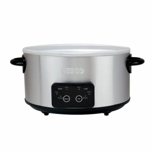 Nesco Slow Cooker - Stainless Steel Perspective: right