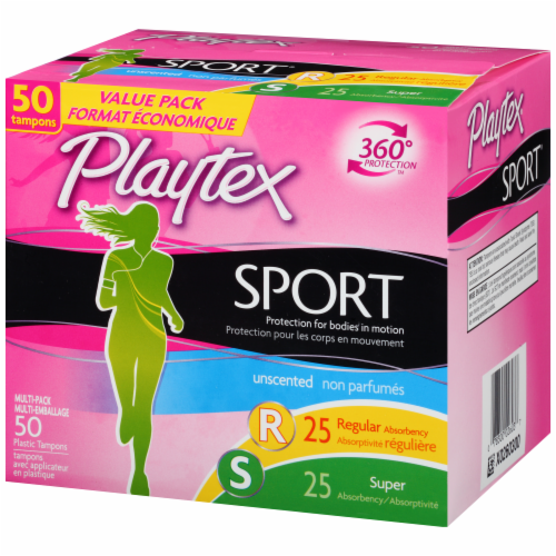 Playtex Sport Unscented Multi-Pack Tampons Perspective: right
