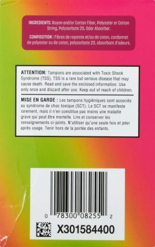 Playtex Sport Odor Shield Unscented Super Tampons Perspective: right
