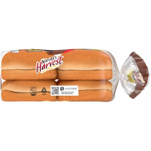 Nature's Harvest Whole Wheat Hamburger Buns 8 Count Perspective: right