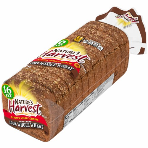 Nature's Harvest 100% Stone Ground Whole Wheat Bread Perspective: right