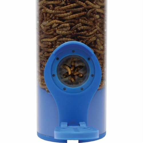Woodstream 2 Port Dried Mealworm Tube Bird Feeder Perspective: right