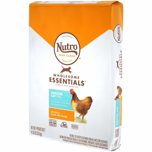Nutro Wholesome Essentials Indoor Cat Salmon & Brown Rice Recipe Adult Dry Cat Food Perspective: right