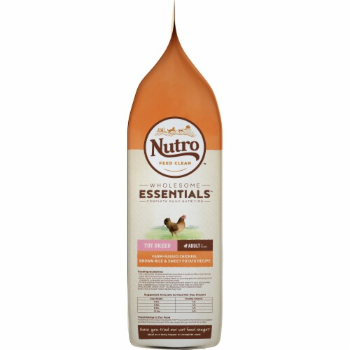 Nutro Wholesome Essentials Chicken Brown Rice & Sweet Potato Recipe Dog Food Perspective: right
