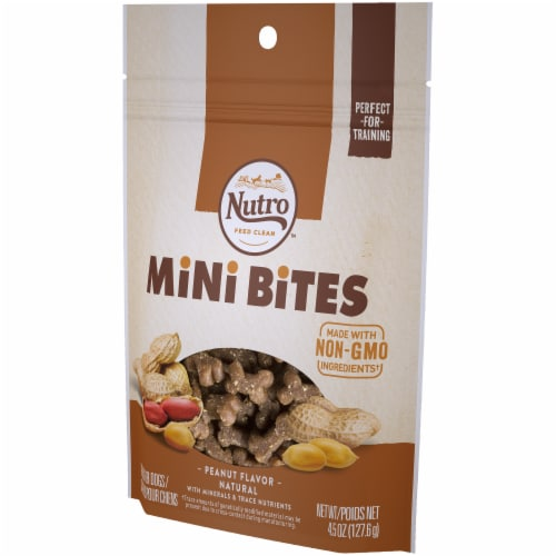 Nutro Peanut Flavored Mini Bites Dog Treats Perspective: right