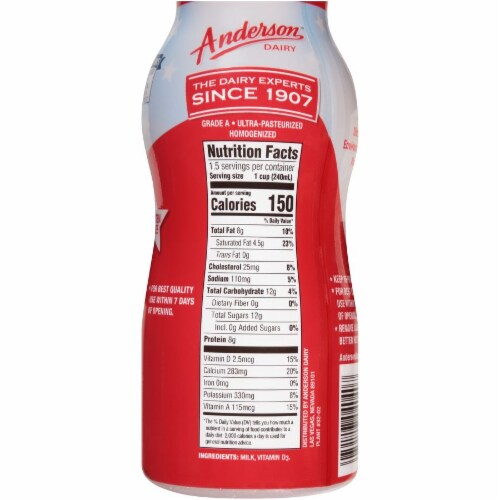 Anderson Dairy Vitamin D Whole Milk Perspective: right