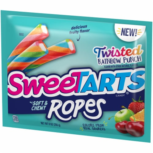 SweetTARTS Twisted Rainbow Punch Soft & Chewy Ropes Candy Perspective: right