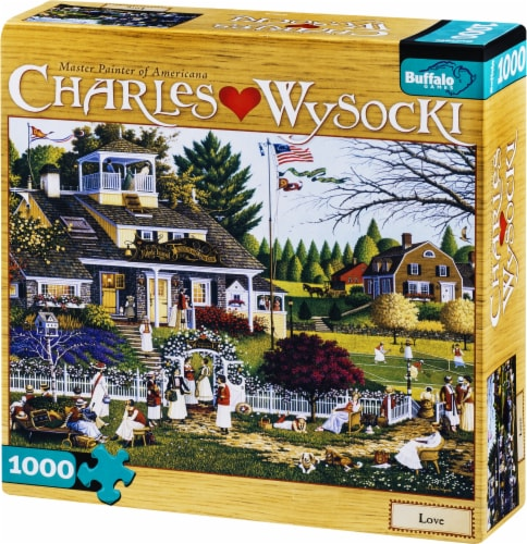 Buffalo Games Charles Wysocki Love Puzzle Perspective: right