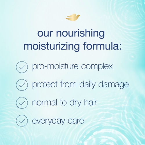Dove Nutritive Solutions Daily Moisture Shampoo with Pro-Moisture Complex for Normal to Dry Hair Perspective: right