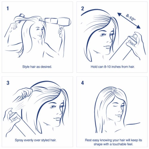 Dove Style + Care Extra Hold Hairspray Perspective: right