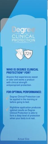 Degree Men Clinical Protection MotionSense Clean Antiperspirant Deodorant Stick Perspective: right