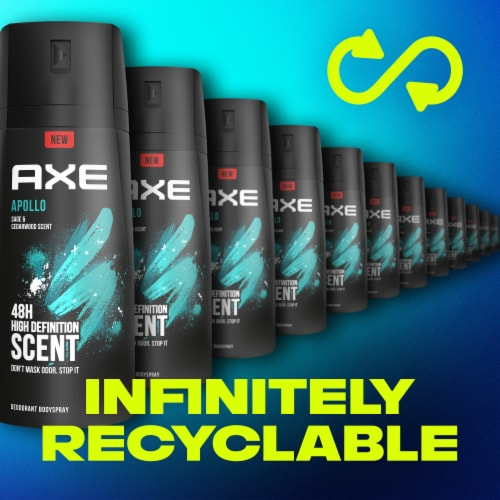 Axe Apollo Sage and Cedarwood 48H Deodorant Body Spray Perspective: right