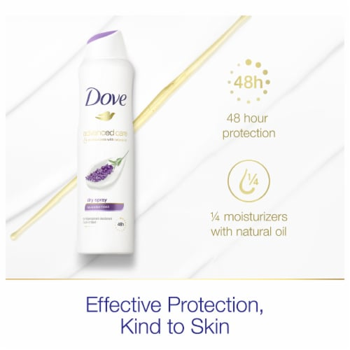 Dove Lavender Fresh Dry Spray Perspective: right