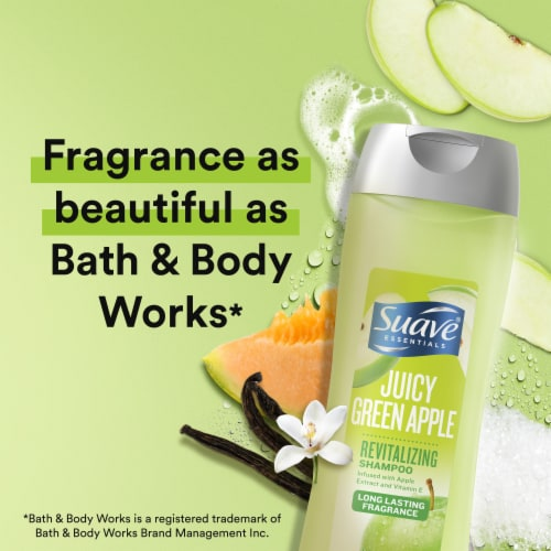 Suave Essentials Juicy Green Apple Revitalizing Shampoo Perspective: right