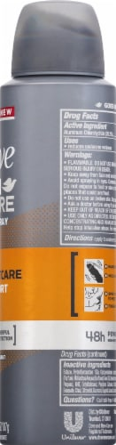 Dove Men+Care Aerosol Sportcare Comfort Anti-Perspirant Dry Spray Perspective: right