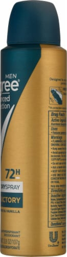 Degree 72-Hour Wetness Protection Victory Strongest Antiperspirant Deodorant Spray Perspective: right